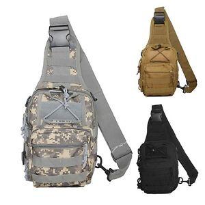 Unisex Single Shoulder Bag Tactical Messenger Crossbody Chest Bags Fany Pack