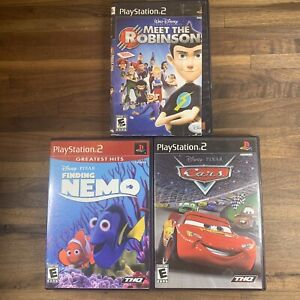 Disney Pixar - Meet The Robinsons - Nemo - Cars - PS2 Complete Game Lot Tested