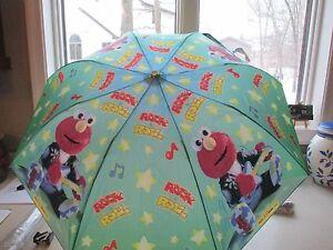 Sesame-Street-Rock-039-n-Roll-Elmo-Umbrella-NWT-SUPER-CUTE