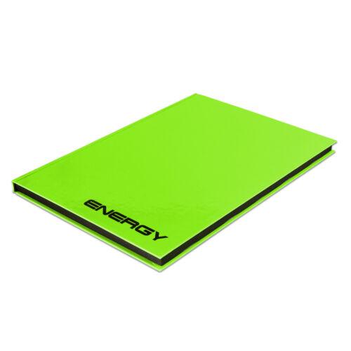 "Rheita; #Noti... Notizbuch ""Energy"" grün; DIN A5; liniert; Kladde mit 96 Blatt"