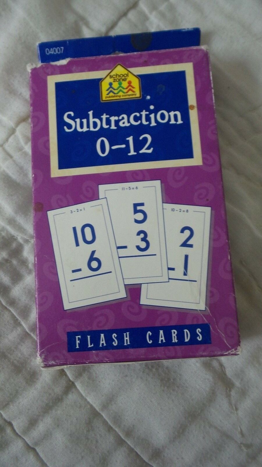 School Zone Subtraction Flash Cards 2000 Edition