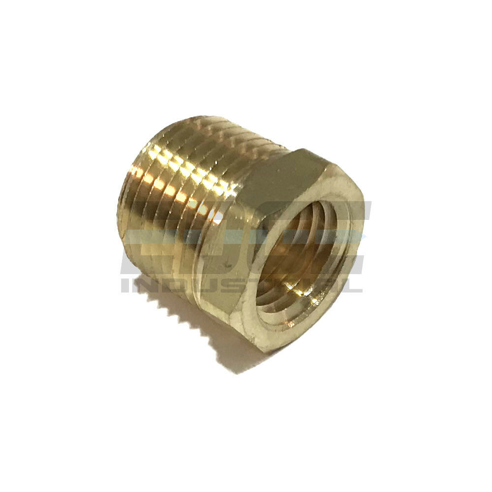 BRASS HEX BUSHING REDUCING NPT THREADS PIPE FITTING 3 8 MALE X 1 4 FEMALE QTY 50