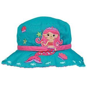 Stephen Joseph Kids Mermaid Bucket Sun Hats for Girls - Cute Toddler ... 8b6b3585db7