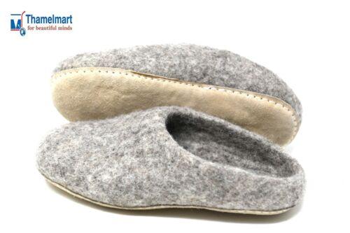 Shoes Natureal Handmade in nepal 100/% Felt Men/'s Slipper Mules Wool Women/'s