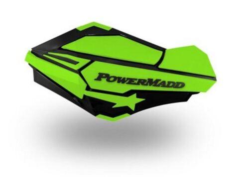PowerMadd SENTINEL Handguard Hand Guards KIT Black Green Suzuki ATV 34423 34452
