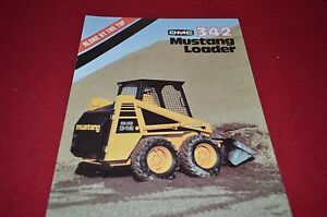 Details about Owatonna 342 Mustang Skid Steer Loader Dealers Brochure DCPA4  ver2