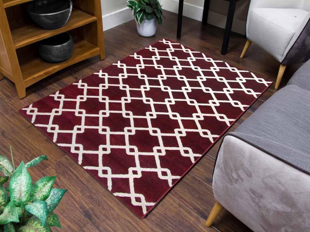 Avorio Rosso Scuro Design moderno di piccole dimensioni dimensioni dimensioni extra large Pavimento Tappeti Tappetini Salone RUNNER 6bcbaa