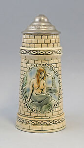 8248010-Keramik-Bierkrug-in-Turmoptik-Nixe-Humpen-Sitzendorf-Thueringen