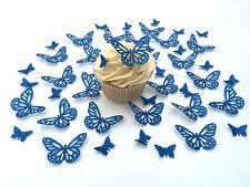 48 commestibili ROYAL BLU FARFALLE TASTINI WAFER decorazioni per cupcake