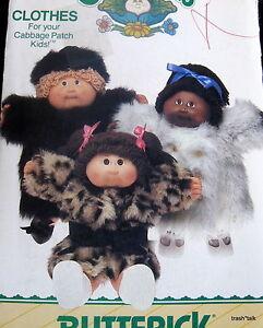 cabbage patch doll clothes pattern b6984 faux fur coat hat