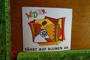 Alter-Aufkleber-Floristik-faehrt-auf-Blumen-ab-Sternzeichen-WIDDER