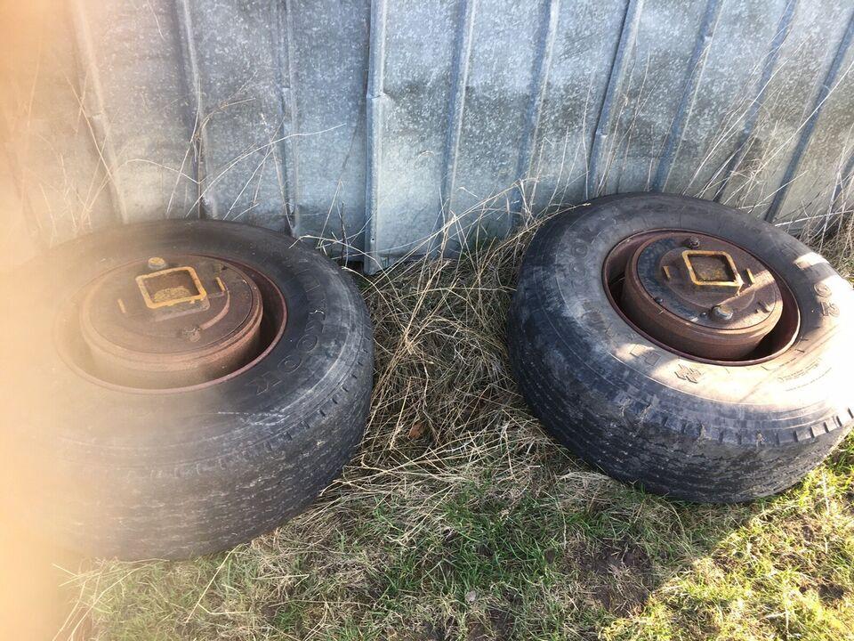 To hjul med nav Perfekt til både trailer