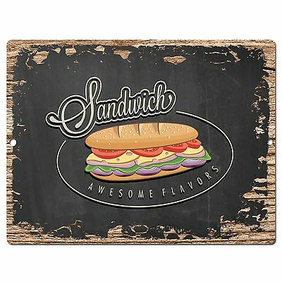 PP0506 Sandwich Plate Chic Sign Bar Store Shop Cafe Restaurant Kitchen Decor