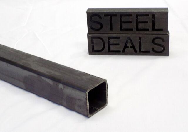 ".125 2/"" x 2/"" x 11 GA Hot Rolled Steel Square Tubing x 12/"" Long"
