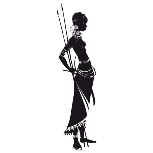 Wandtattoo Massai Wandbild Wanddeko Wandsticker Wandschmuck Wandfolie