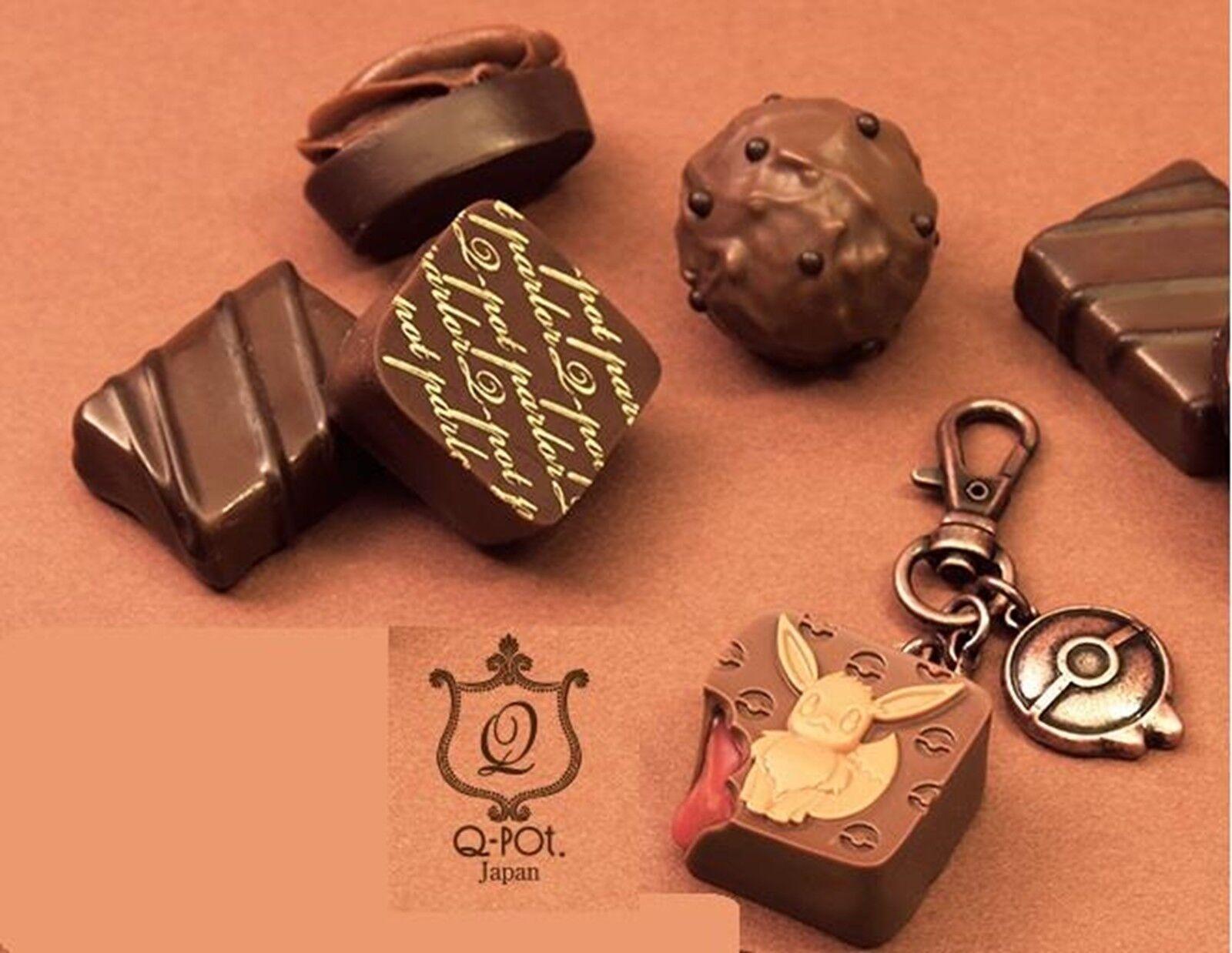 Q-pot X Pokemon Center Colaboración Chocolat Eevee Bolsa Dije Japón