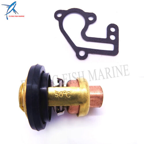 682-12414-A1 Gasket and 6E5-12411-01 Thermostat for Yamaha E15B 9.9C E9.9B
