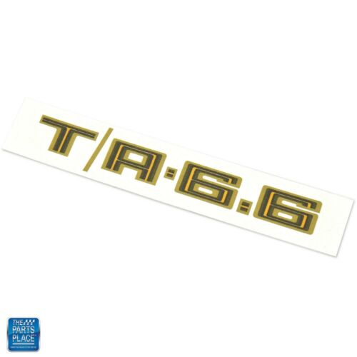 Trans Am Special Edition T//A 6.6 Hood Scoop Decal Gold 1979 Firebird Each