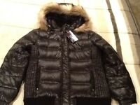 Women's Juniors American Eagle Outfitters Down Fill Winter Coat Black Xl