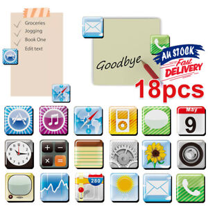18-Pcs-Refrigerator-Fridge-Magnets-Whiteboard-Memo-Magnet-App-Logo-iPhone