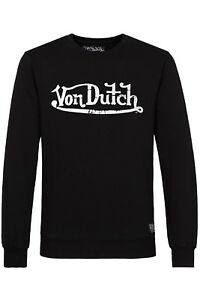 Von-Dutch-logotipo-Hoodie-sudadera-sueter-Sweater-negro-sale