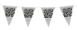 25th-Birthday-Anniversary-Silver-Holographic-Flag-Bunting-Banner-Decoration