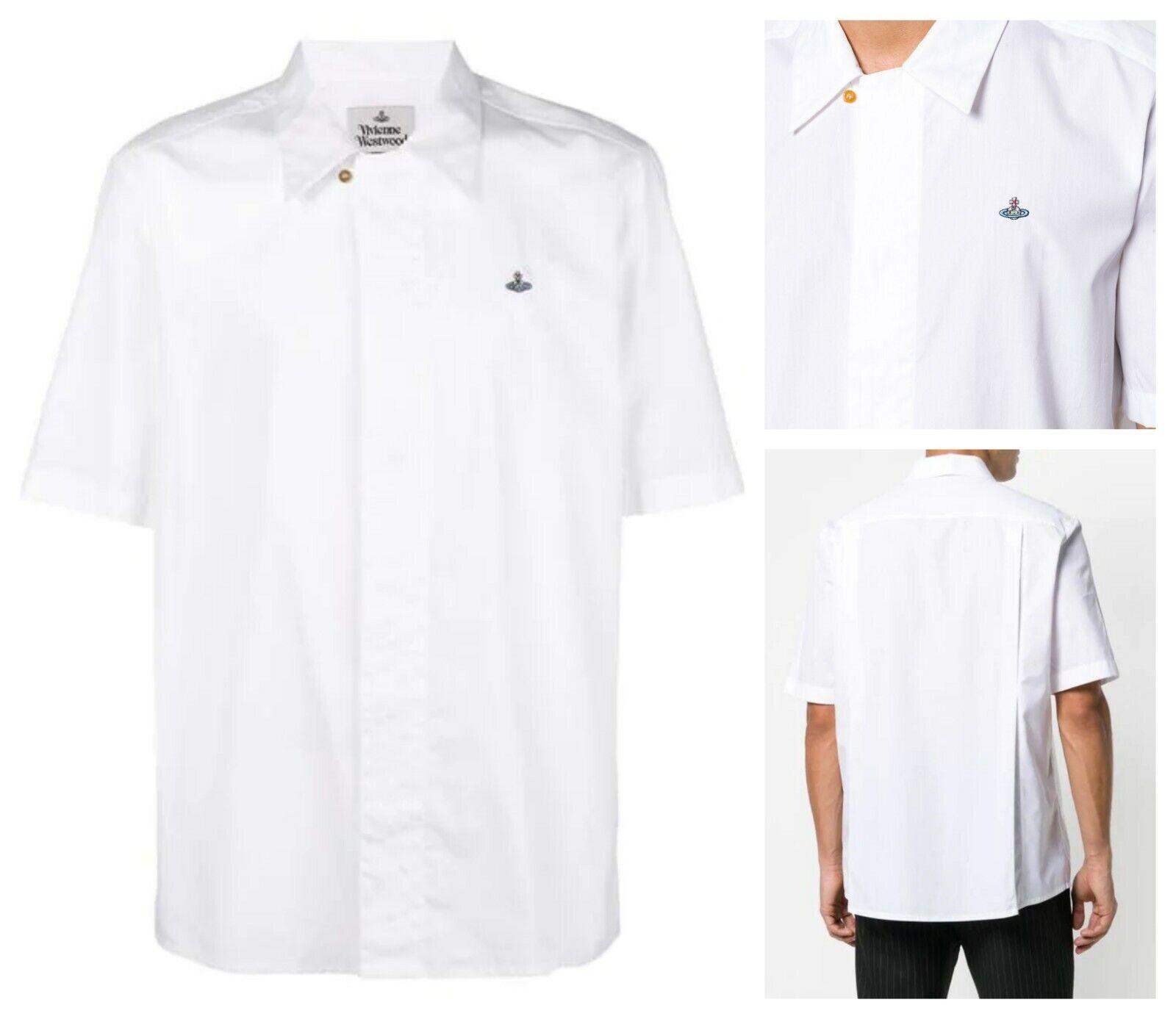 AUTHENTIC VIVIENNE WESTWOOD Weiß ORB SHORT SLEEVES hemd. IT 46 (klein)