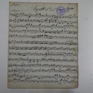 HAYDN-symphony-99-bassoon-fagotto-part-antique-music-manuscript