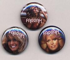 CHARLIE'S ANGELS FARRAH three Badge Button Pins set