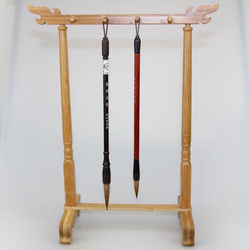 Bamboo Sumi Hanger Calligraphy Brush Holder Rack Jewelry Dispaly Rack Stand