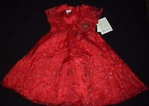 New Girls Bonnie Jean sz 2T Red Green ELF Dress Party Holiday Christmas Clothes
