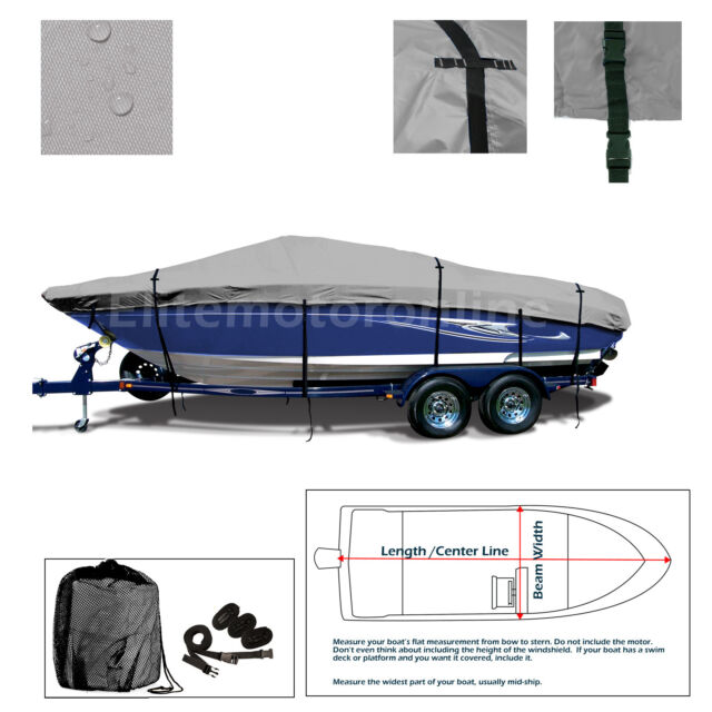 Donzi 18 Classic All Weather Trailerable Perfornamce Jet Boat Cover Grey
