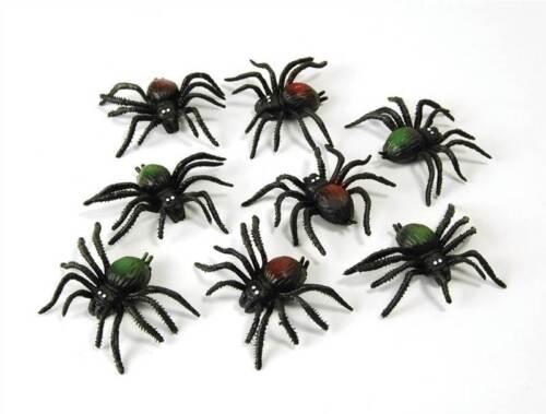 Fake Rubber Spiders,8/Pkt,Animal Prop,Loot Bag Filler,Halloween Fancy Dress #CA