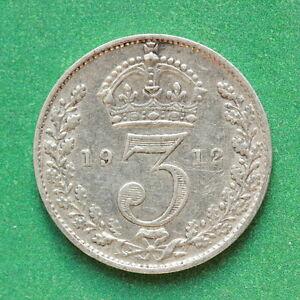 1912 George V Silver Threepence SNo42179
