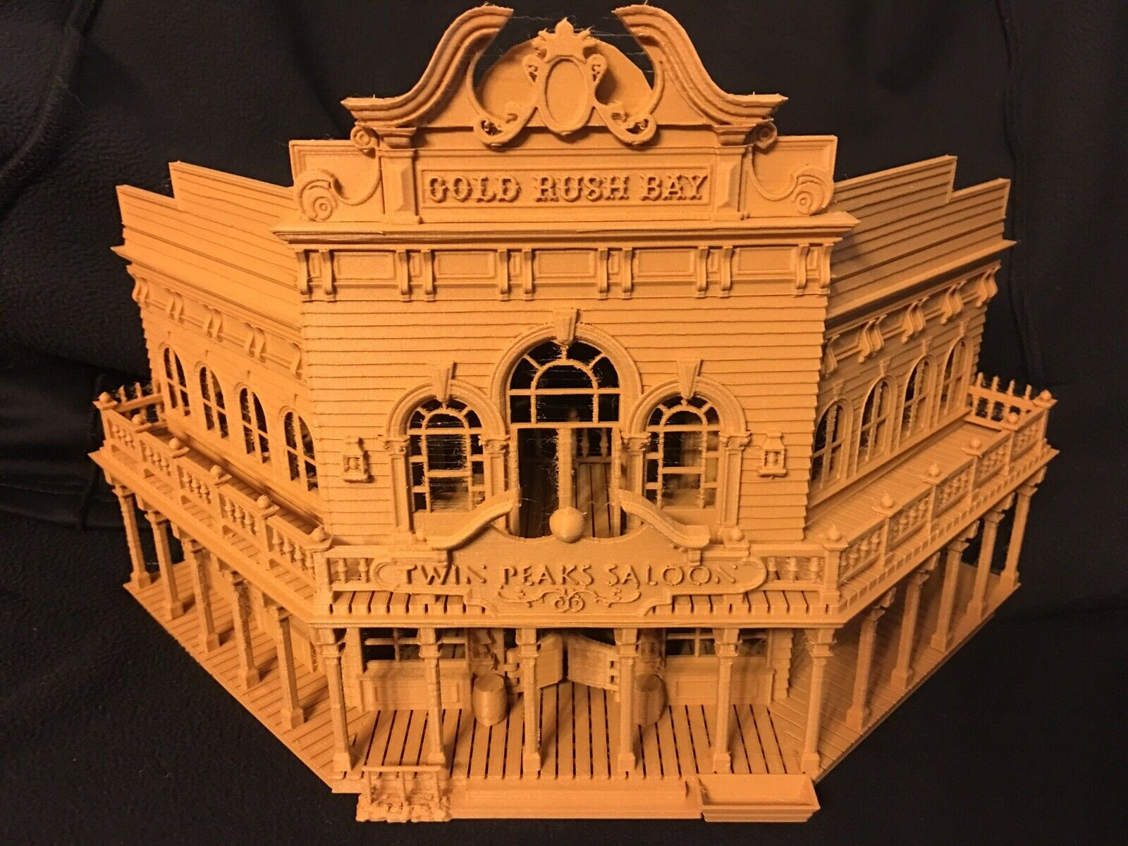 Miniature Old West  1 Saloon Hotel Built Ready HO Scale Interiors Included Wood