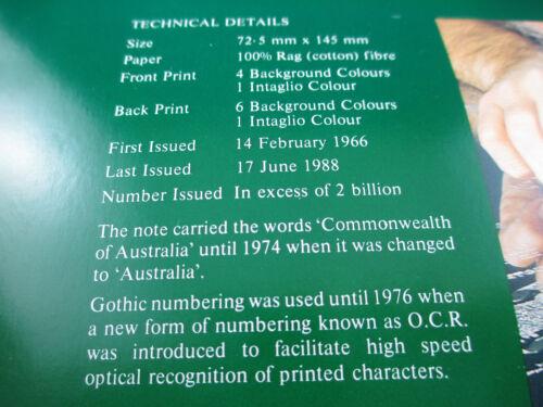 1988 THE $2 COLLECTOR FOLDER FRASER  BANKNOTE. LAST ISSUE FOLDER JOHNSTON