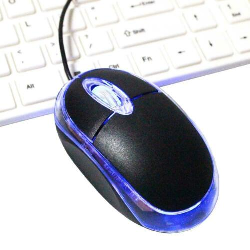 USB 2.0 Optical Wired Scroll Wheel Mouse Mice for PC Laptop Notebook Desktop US