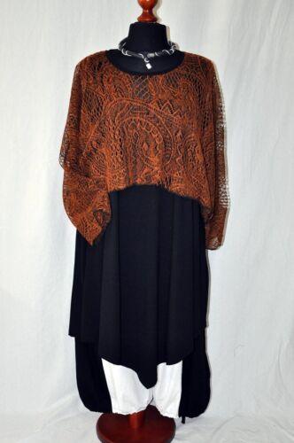 My Obsession Lagenlook schräges Tunika-Kleid black 44,46,48,50 L,XL,XXL,XXXL