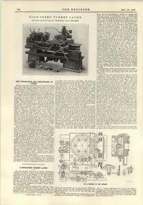 1915 Highspeed Turret Lathe Reed Prentice - <span itemprop=availableAtOrFrom>Bishop Auckland, United Kingdom</span> - If for any reason you are not satisfied with your item, do let us know. If you wish to return it, you may, within 14 days, and we will issue you with a full refund. Most purchases - Bishop Auckland, United Kingdom