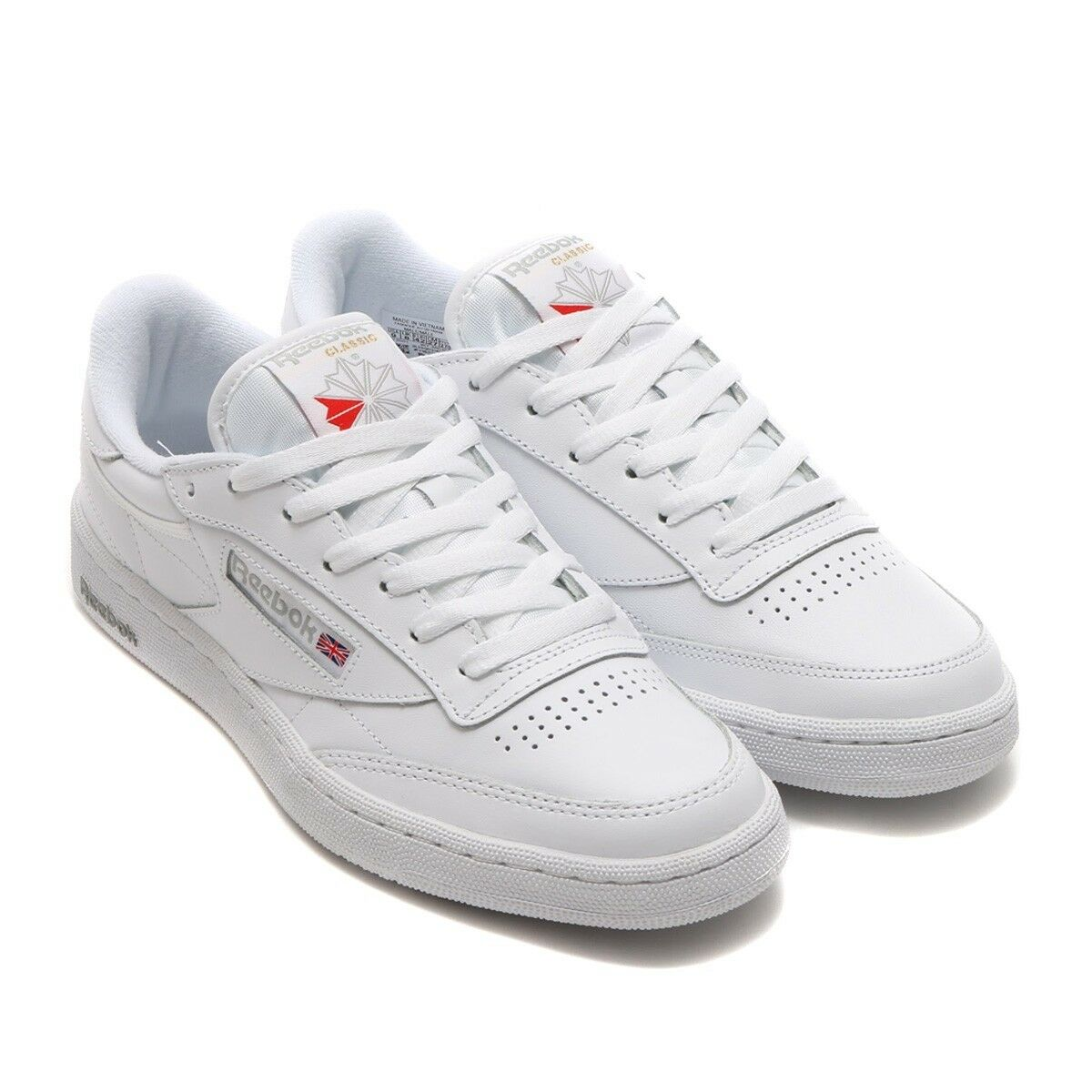 Reebok AR0455  Hombres Club 85 Moda Internacional-blancoo C gris Transparente tenis