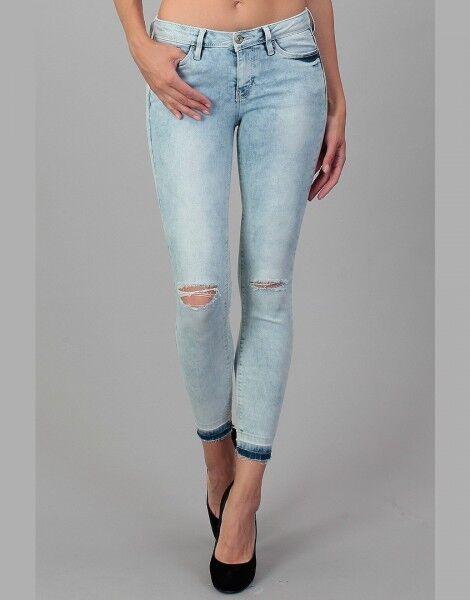 1c35dcd62578 Tom Tailor pantalones vaqueros de mujer OC tobillo azul claro Gr.27