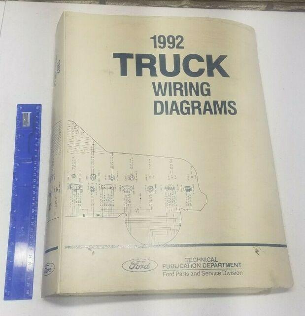 Factory 1992 Ford Truck Vacuum  U0026 Wiring Diagram Bronco