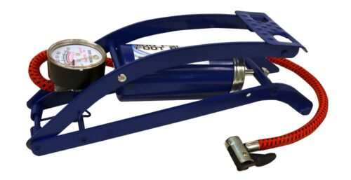 Balls /& Much more Metal Foot Pump Compact Heavy Duty For Inflating Tube Tire