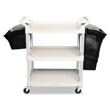 Rubbermaid Commercial Xtra Utility Cart, 300-lb Cap, Two-Shelves, - RCP4091GRA