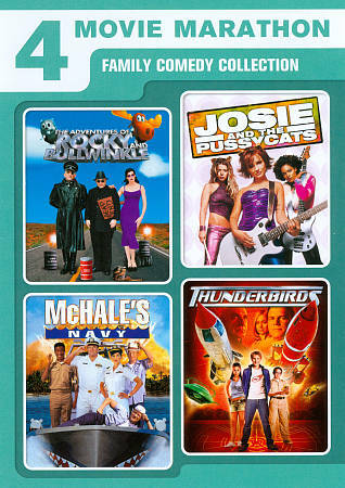 4 Movie Marathon: Family Comedy Collection (Adventures of Rocky & Bullwinkle /