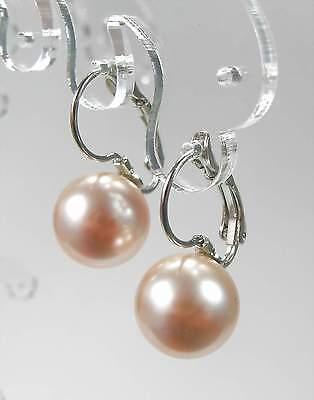 Nuovo Orecchini 12mm Swarovski Perle In Peach/color Pesca/rosa Pesca Orecchini-farben/pfirsich Ohrringe It-it Mostra Il Titolo Originale