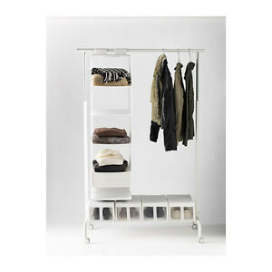 Image Is Loading IKEA RIGGA ADJUSTABLE CLOTHES RAIL WITH SHOE RACK