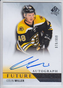 2015-16-UD-SP-AUTHENTIC-MILLER-RC-AUTO-979-999-FUTURE-WATCH-ROOKIE-274-Bruins