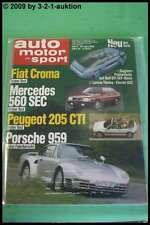 AMS Auto Motor Sport 9/86 * Porsche 959 Treser Hunter Lancia 8.32 DB 560 S