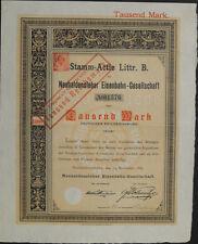 Neuhaldensleben Neuhaldensleber Eisenbahn Aktie 1000 Mark 1887 dekorativ